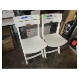 2) Folding Plastic Chairs