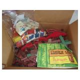 Lincoln Logs and Tupper Toys