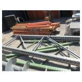 Pallet Of Orange Industrial Shelving, Gray And