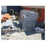 4) Pallets Gray Industrial Shelving