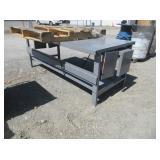 "Metal Work Table 72"" x 34"" x 28"""