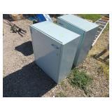 2) Metal Storage Cabinets
