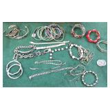 Gold Colored Bracelets, Bangles, Necklaces