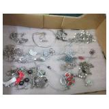 Silver Colored Bracelets, Necklaces, Beads,