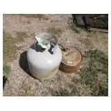 Metal Gas Can, Propane Tank