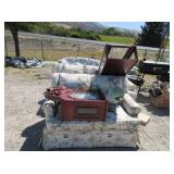 Floral Couch, Loveseat, Grandfather Clock
