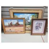 3) Framed Wall Pictures