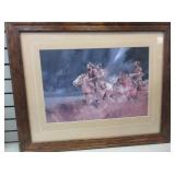 Framed Western Picture