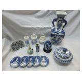 Various Blue And White Collectibles