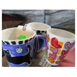 3) Mugs,