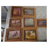 Wooden Frames with Colorful Artwork