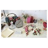 Floral Candle Holders, Angel Figurines, Wall Hangs
