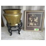 Planter Pot with Stand, Framed Cross-Stitch