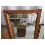 Framed Mirror, End Table