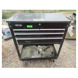 Rolling Tool Box with Contents: Mallet,