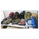 Assorted Backpacks and Book Bags
