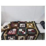Quilted Holiday Blanket, Fleece Sleeping Bag