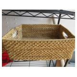 Assorted Sizes of Woven Baskets, Sunglasses