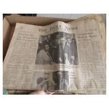 """""""The Daily News"""" Newspaper from 1971, Including..."""