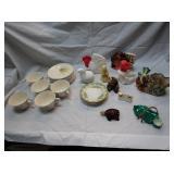 Teacups and Plates, Avon Bottles, Boyds Bear, More