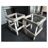2) Wooden Table Frames