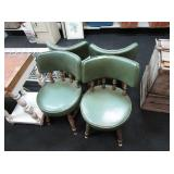 2) Padded Kitchen Chairs