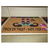 2) Halloween Door Mats