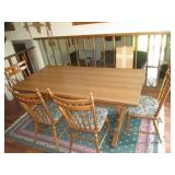 Dining Table With 2) Extension Leafs, 4) Chairs