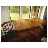 Drop Side Leaf Table With 2) Chairs