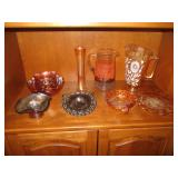 Carnival Glass And Colored Glass Collectables