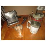 Early 1900s Eagle Electric Toaster, Flour Sifters