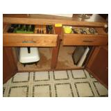 Island Drawer Contents, Electric Frying Pan,