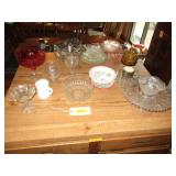 Candy Dishes, Collector Plates, Cake Plate, Amber