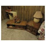 Coffee Table, Side Table with Lamp