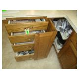 Contents Of 4-Drawers And Lazy Susan, GE