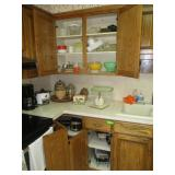 Cupboard And Counter Contents, Coffee Maker,