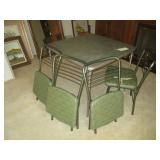 Card Table With 4) Folding Chairs