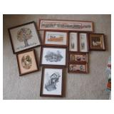 Framed Wall Decor (Wildlife, Trees, Country)