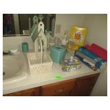 Bathroom Decor, Curling Iron, Basket And More