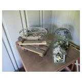 Flower Pot Trolleys, Cages, 2) Tables