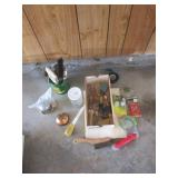Brushes, Oil Can, Hand Tools