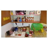 Contents of  upper Cupboards