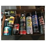 Lot of cleansers and lubricants.
