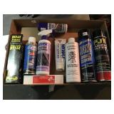 Group of lubricants, cleaners, bully grip lock
