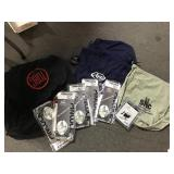 Lot of 14 cloth helmet bags, five SAI max vision