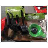 Brush cleaning kit and magnetic nut and bolt tray
