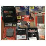 Grouping, tire repair kit, various brakes,