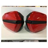 Moto Guzzi side cases, used, red