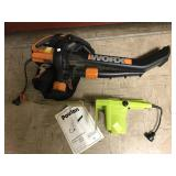 Electric chainsaw and blower