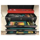 Craftsman metal tool chest with handtools